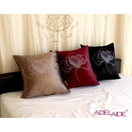 Adelaide Velvet Rose Cushion Cover Purple