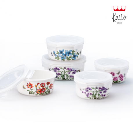 KEITO French Garden Airtight Container Set (XS+S)