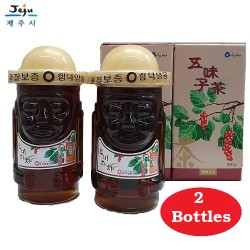 Korea Jeju Natural Omija 100% Pure Wild Raw Honey 0.8kg in Glass Bottle [Duo]