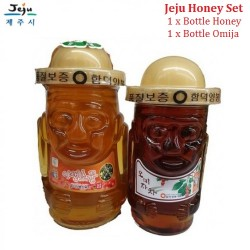 [9.9 Super Sales 1+1]Korea Jeju Natural 100% Pure Wild Raw Honey 1.2kg & Omija Honey 0.8kg