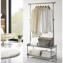 Korea Living Star 2 Tier Moving Clothes Rack