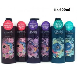 Korea Kerasys Perfume Shampoo 600ml and Conditioner 600ml: 6 Bottles