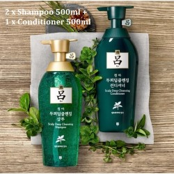 Korea Ryo Scalp Deep Cleansing 500ml x 2 Conditioner 500mlx 1