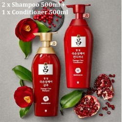 Korea Ryo Damage Care Shampoo 500ml x 2 Conditioner500ml x 1