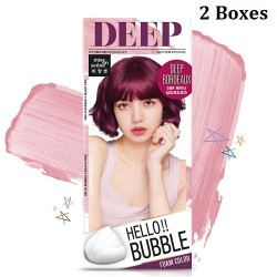 Korea Mise En Scene Hello Bubble Foam Color 5BR Deep Bordeaux 30g x 2