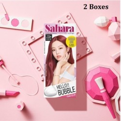 Korea Mise En Scene Hello Bubble Foam Color 7P Sahara Rose Pink 30g x 2