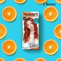 Korea Mise En Scene Hello Bubble Foam Color 8O Africa Sunset Orange30g x 2