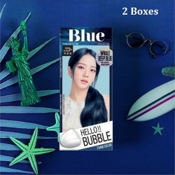 Korea Mise En Scene Hello Bubble Foam Color 4B Whale Deep Blue 30g x 2