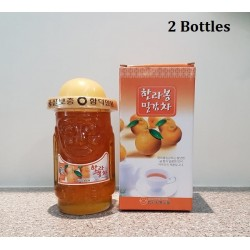 Korea Jeju Hareubang Hallabong Mandarin Tea 800g with Glass Bottle x 2