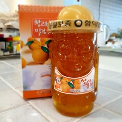 Korea Jeju Hareubang Hallabong Mandarin Tea 800g with Glass Bottle