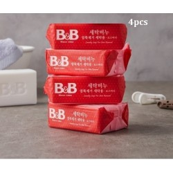 Korea B&B Baby Laundry Soap for Stain Removal ( Rosemary) 200g x 4