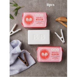 Korea B&B Baby Laundry Soap for Stain Removal ( Rosemary) 200g x 8