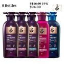 Korea Ryo Shampoo Hair Loss Care for Oily/ Normal to Dry/ Sensitive Scalp/Weak Hair/Dandruff Shampoo (8 Bottles) 400ml x 8