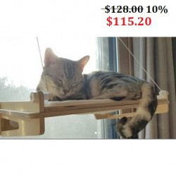 Korea Cat Mounted Wood Hammock Cat Tower (up to 20kg Load)