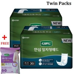Korea Depend Incontinence Guards for Senior Care with Maximum Absorbency Pad 20 x 52.5cm