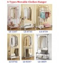 Korea Living Star Portable Clothes Rack Movable Hangers Series