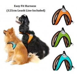 Korea Easy Fit dog harness set I 124cm Durable steel swivel Leash LineISize S/M/L IDog/Puppy