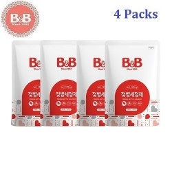 Korea B&B Baby Feeding Bottle Liquid Type Cleanser (Refill) 500ml x 2 Bottles,Natural Wash for Infant Milk Bottles
