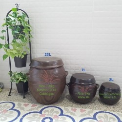 Korea Traditional Onggi Jar 2L,7L,12L,23L/Kitchenware /Pottery/Kitchen Rice Storage/Jar for making Rice Wine,Kimchi,Miso